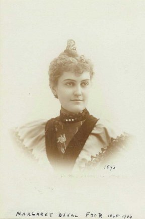 Margaret Duvall, wife of William Foor