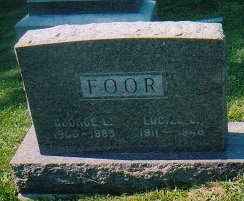 FOOR: George L. 1906-1985, Lucille C. 1911-1948.  Photo courtesy of Sharon Disbennet