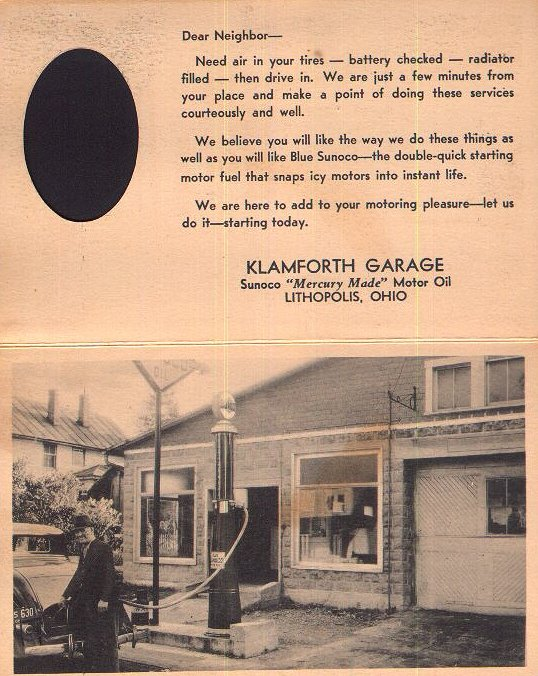 Klamfoth Garage, Lithopolis, Ohio