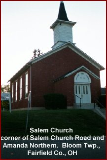 Salem Church, Bloom Twp., Fairfield Co., OH