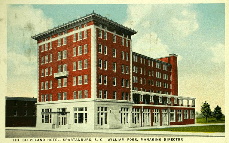 William A Foor Purchased The New Hotel Cleveland In Spartanburg Sc 1916 It Opened 1917
